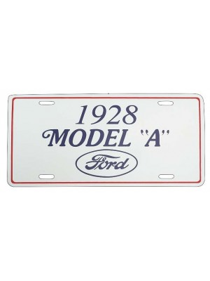 A-13405A 1928 License Plate Plaque