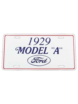 A-13405B  1929 License Plate Plaque