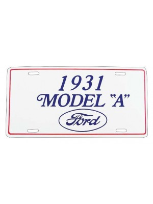 A-13405D  1931 License Plate Plaque