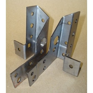 A-70167    1928-1929 Coupe Left And Right Upper Cowl Pillar Support Brackets - Pair - USA Made!