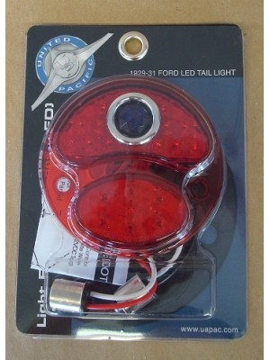 A-13419-RBD    LED Conversion for tail lights - 12 Volt -  All Red W/ Blue Dot - Right Side (w/o license light)