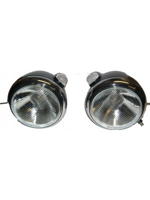 A-13002  Guide Style headlights for Street Rods- STAINLESS STEEL