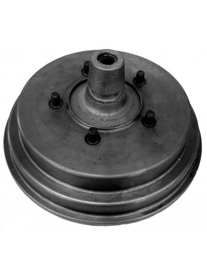 A-1128  Brake Drum Rear & New Hub - Assembled