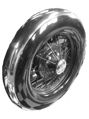 A-1351-B Spare Tire Cover Stainless Steel 1930-31