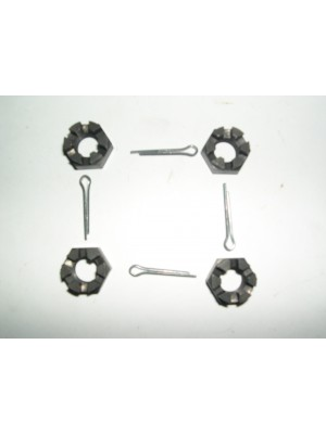 A-5340  Spring Shackle Castle Nuts Set/4