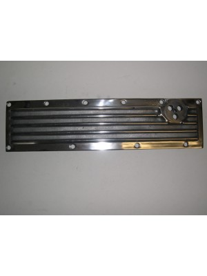 A-6011  Finned Aluminum Valve Cover- Unpolished- USA Made