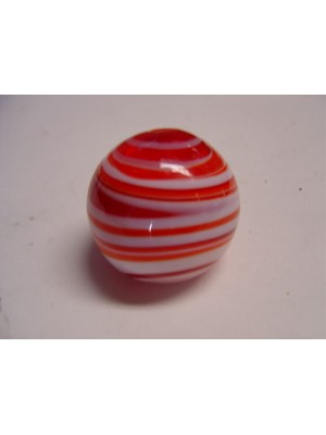A-7213-R  Red/White Swirl Glass Shift Knob *