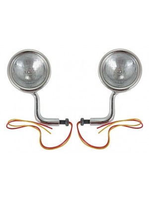 A-13300-ATS  1928-1929 Cowl Lights with Turn Signals