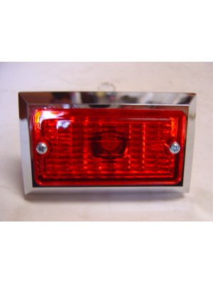 A-13361-R  Red Turn Signal Light- Fits In Between  Bumper Bars- 6 volt
