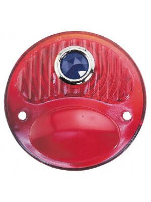 A-13450-BD  Tail Light Lens Red with Blue Dot