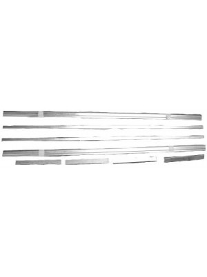 A-16454-AZ  Running Board Trim Set- Zinc- 1928-29