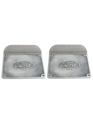 A-16460  Running Board Step Plates - Aluminum - Pair