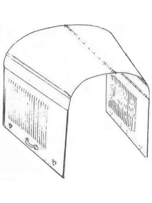 A-16610-A  Hood 1928-29 4-Door; Cabriolet