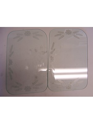 A-18201-E  Etched Windwing Glass-30-1 Deluxe Rdstr/Phae