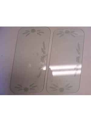 A-18203-E  Etched Windwing Glass-28-9 Rdstr/RPU