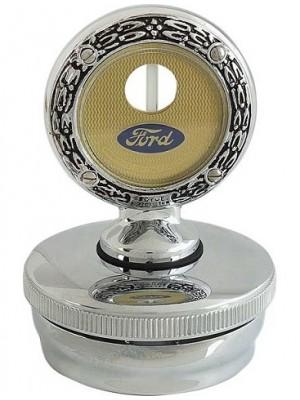 A-18354-A  MotoMeter & Cap Deluxe Chrome 1928-29