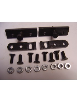 A-41512-U  Complete Set of Trunk hinges- Fits all coupes and roadsters. Includes all pieces needed. USA Made- Steel