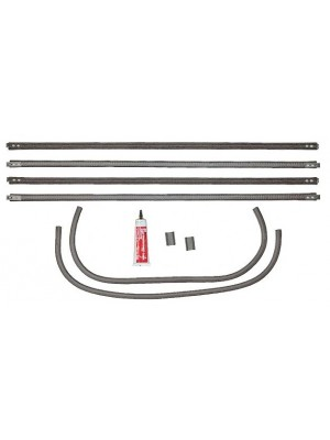 A-48233  Window Felt Kit- Slant WS/Vic Front - Set