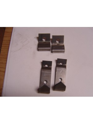A-55110-B  Early 1930 Closed Cab Pickup Seat Backrest Clips- 4 piece set- Steel - USA Made- Holds Seat Bacrest in Cab