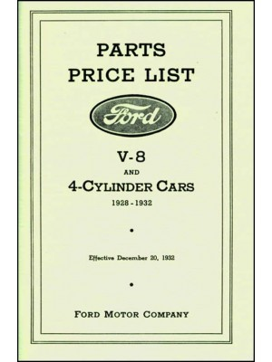 A-99006  Model A Chassis Parts Catalog