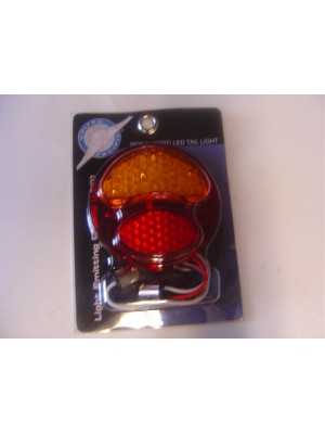 A-13416-R LED Conversion for tail lights. 6 volt - Red/Amber Right side (w/o license light)