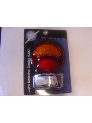 A-13418-L LED Conversion for tail lights. 12 volt  Red/Amber Left side (w license light)