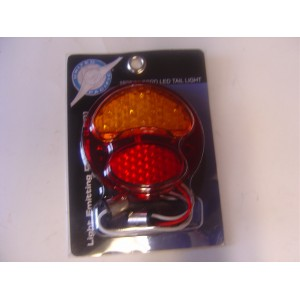 A-13418-R LED Conversion for tail lights. 12 volt  Red/Amber Right side (w/o license light)