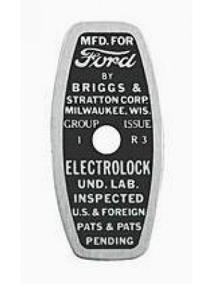 A-11577-B  Popout Cable Tag- 1930-31
