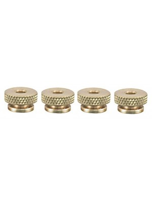 A-12408  Brass Knurled Spark Plug Nuts- Set Of 4