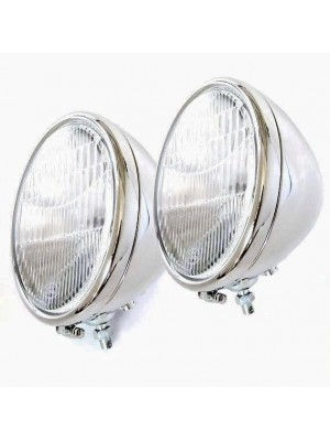 A-13000-S  Headlights- 1 Bulb- Stainless Steel- Pair- 1928-29