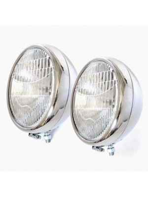 A-13006- A  Headlights- 1 Bulb- Stainless Steel- Pair- 1930-31