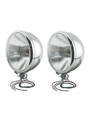 A-13006-C  King Bee Hot Rod Headlights- Quartz Halogen- Stainless Steel
