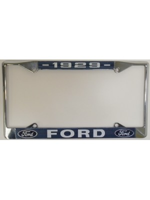 A-13406-FB  License Plate Frame- 1929