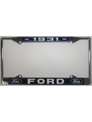 A-13406-FD License Plate Frame- 1931