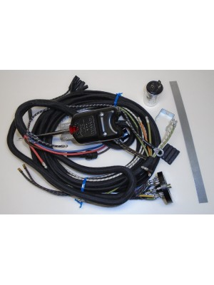 A-14403-ET  Complete wiring harness with turn signals wired in, complete with turn signal unit, flasher- For use with 2 tail lights and cowl light turn signals