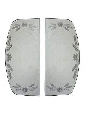 A-18205-E  Etched Windwing Glass- 30-31 Coupe and 28-31 4 Door Sedan