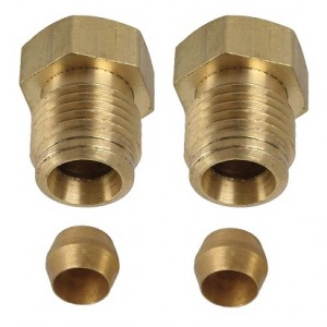 """A-9245 Outside Fuel Line Fittings- 9/16""""- Pair"""